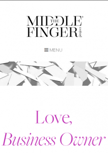 Ash Ambirge – The Middle Finger Project – Love, Business Owner