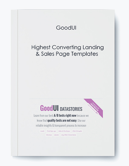 GoodUI – Highest Converting Landing & Sales Page Templates