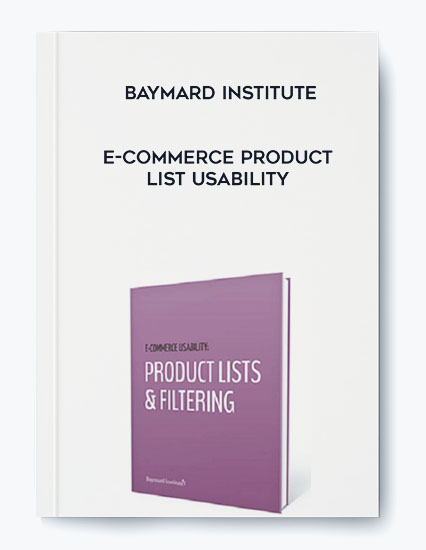 Baymard Institute – E-Commerce Product List Usability