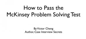 Victor Cheng – McKinsey PST Practice Tests