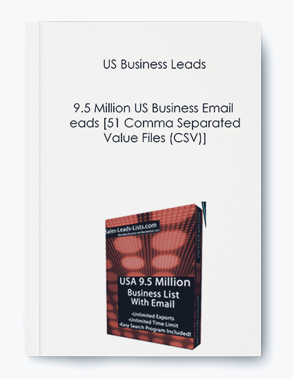 US Business Leads – 9.5 Million US Business Email Leads [51 Comma Separated Value Files (CSV)]