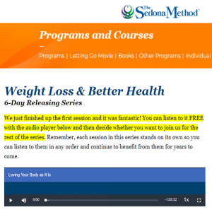 Hale Dwoskin - Sedona Method - Weight Loss And Better Health