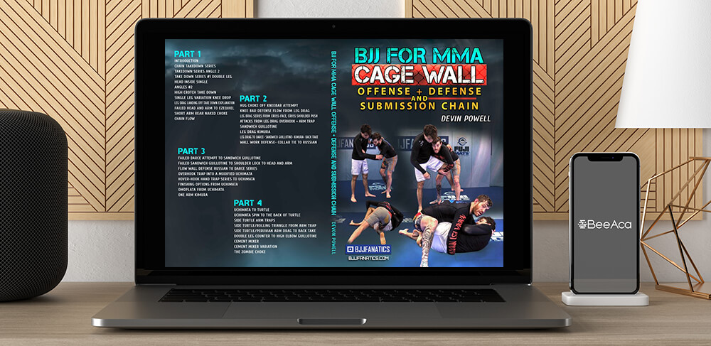 Download BJJ for MMA Cage Wall Devin Powell at https://beeaca.com