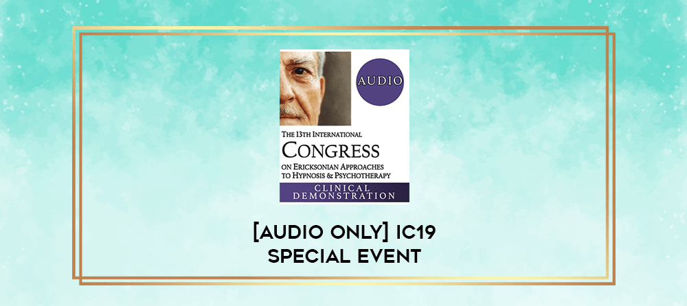 Download [Audio Only] IC19 Special Event 02 - Self-Hypnosis: Experiences from Two Cultural Viewpoints - Roxanna Erickson-Klein