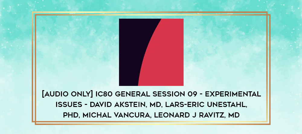 Download [Audio Only] IC80 General Session 07 - Issues in Pain Control - Paul Sacerdote