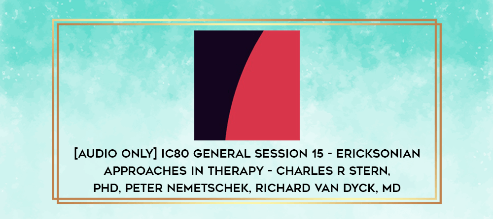 Download [Audio Only] IC80 General Session 12 - About Milton H. Erickson - Ernest L Rossi