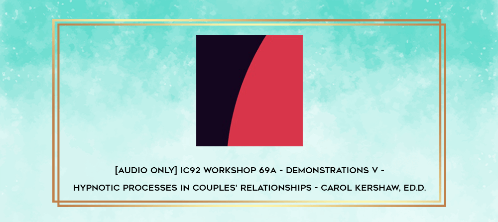 Download [Audio Only] IC92 Workshop 55a - Demonstrations IV - Solution-Focused Therapy: Interviewing for a Change - Scott Miller